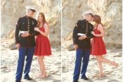 Table Rock Beach Engagement Laguna Marine Dress Blues Asea Tremp Photography